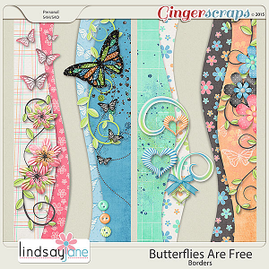 Butterflies Are Free Borders by Lindsay Jane