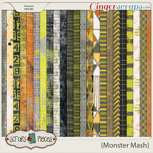 Monster Mash Pattern Papers - Scraps N Pieces