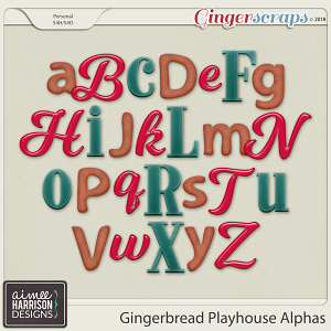 Gingerbread Playhouse Alpha Sets by Aimee Harrison