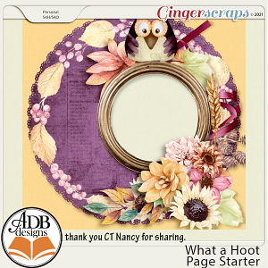 What a Hoot! Quick Page Gift 01 by ADB Designs