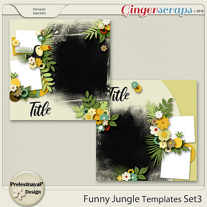 Funny Jungle Templates Set3