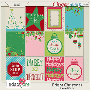 Bright Christmas Journal Cards by Lindsay Jane