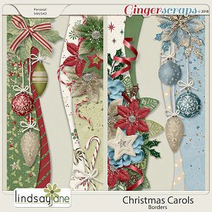 Christmas Carols Borders by Lindsay Jane