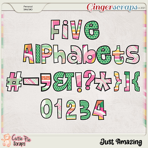 Just Amazing Alphabets