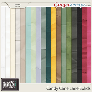 Candy Cane Lane Solid Papers by Aimee Harrison