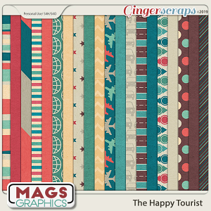 The Happy Tourist PAPERS by MagsGraphics