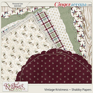 Vintage Kristmess Shabby Papers