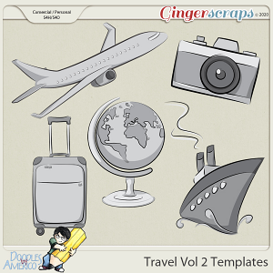 Doodles By Americo: Travel Vol 2 Templates