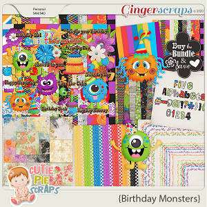 Birthday Monsters Bundle Pack