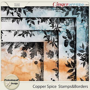 Copper spice Stamps&Borders