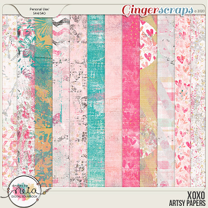XOXO - Artsy Papers - by Neia Scraps