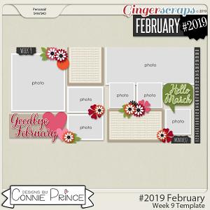 #2019 February - Week 9 Template Pack (CU Ok) by Connie Prince