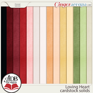 Loving Heart Solid Papers by ADB Designs