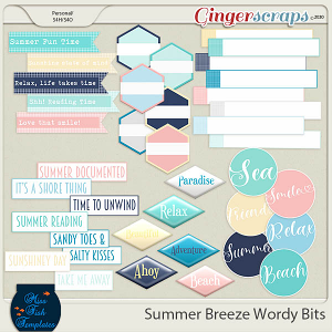 Summer Breeze Wordy Bits Add On by Miss Fish