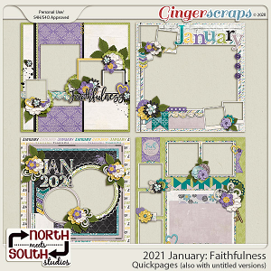 2021 January: Faithfulness Quickpages by North Meets South Studios