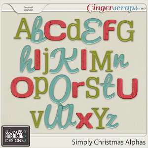 Simply Christmas Alpha Sets by Aimee Harrison