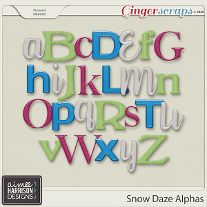 Snow Daze Alpha Sets by Aimee Harrison