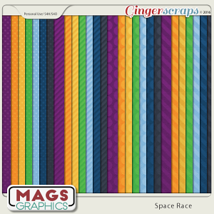 Space Race EMBOSSED PAPERS by MagsGraphics