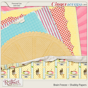Brain Freeze Shabby Papers