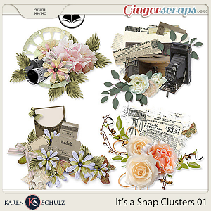 Its a Snap Clusters 01 by Karen Schulz and ADB Designs