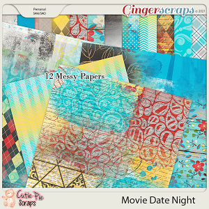 Movie Date Night Messy Papers