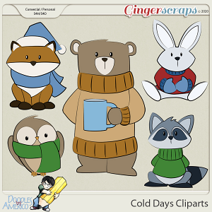 Doodles By Americo: Cold Days Cliparts