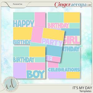 It's My Day Templates by Ilonka's Designs