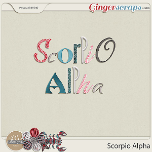 Scorpio Alphas by JoCee Designs