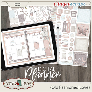 Old Fashioned Love Planner Pieces- Scraps N Pieces