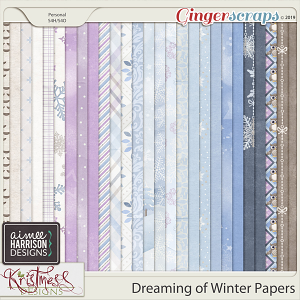 Dreaming of Winter Paper Pack by Aimee Harrison and Kristmess Designs