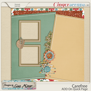 Carefree ADD On Quick Page from Designs by Lisa Minor