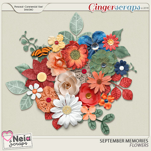 September Memories - Flowers - By Neia Scraps