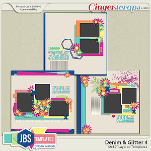 Denim & Glitter Templates 4 by JB Studio