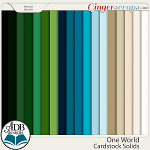 One World Solid Papers by ADB Designs