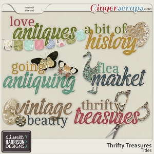Thrifty Treasures Titles by Aimee Harrison