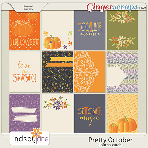 Pretty October Journal Cards by Lindsay Jane