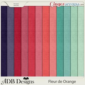 Fleur de Orange Cardstock Solids