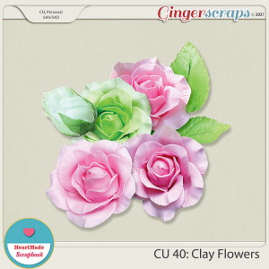 CU 40 - Clay flowers - roses