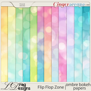 Flip Flop Zone: Bokeh-Ombre Papers by LDragDesigns