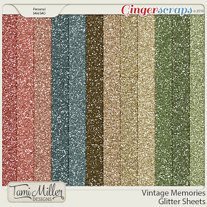 Vintage Memories Glitter Sheets by Tami Miller Designs