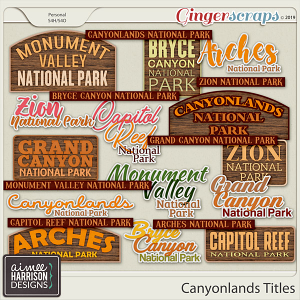 Canyonlands Titles by Aimee Harrison