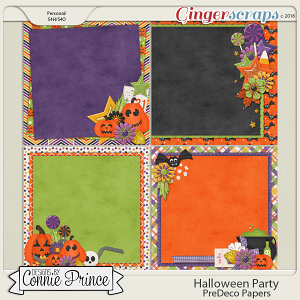 Halloween Party- PreDeco Papers