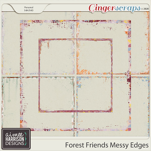 Forest Friends Messy Edges by Aimee Harrison
