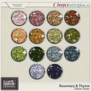 Rosemary and Thyme Glitters by Aimee Harrison