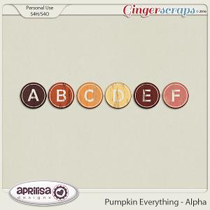 Pumpkin Everything - Alpha by Aprilisa Designs