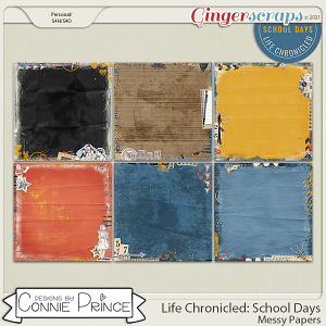 Life Chronicled: School Days - Messy Papers by Connie Prince