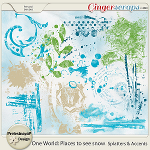 One World: Places to see snow Splatters & Accents