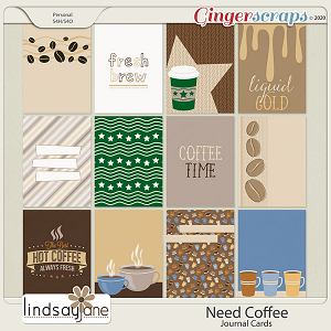 Need Coffee Journal Cards by Lindsay Jane