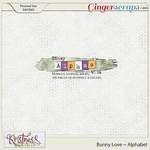 Bunny Love Alphabets