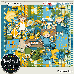 Pucker Up KIT by Heather Z Scraps